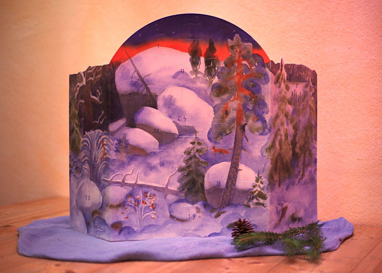 Säckchen mit 24 Rätselnüssen Adventskalender nach Waldorf 3 Bären