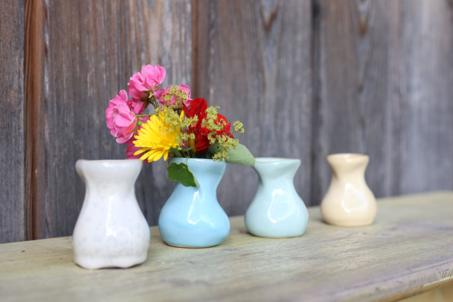 Earthenware Vase in Four Colours