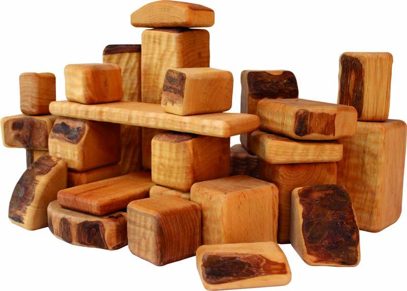 Set of 30 Birkenhof Wooden Building Blocks