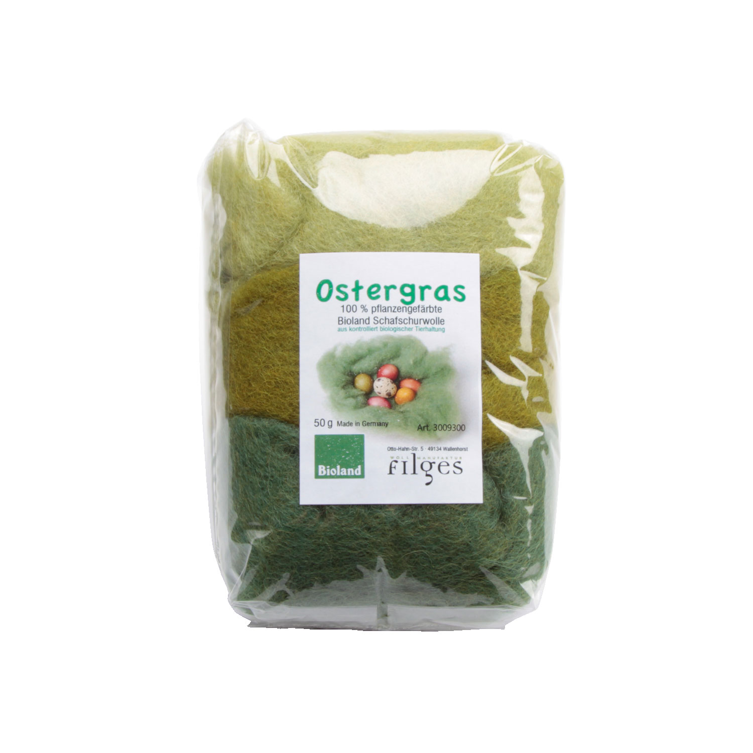 Filges Plant-dued Fairy Wool in Green Shades