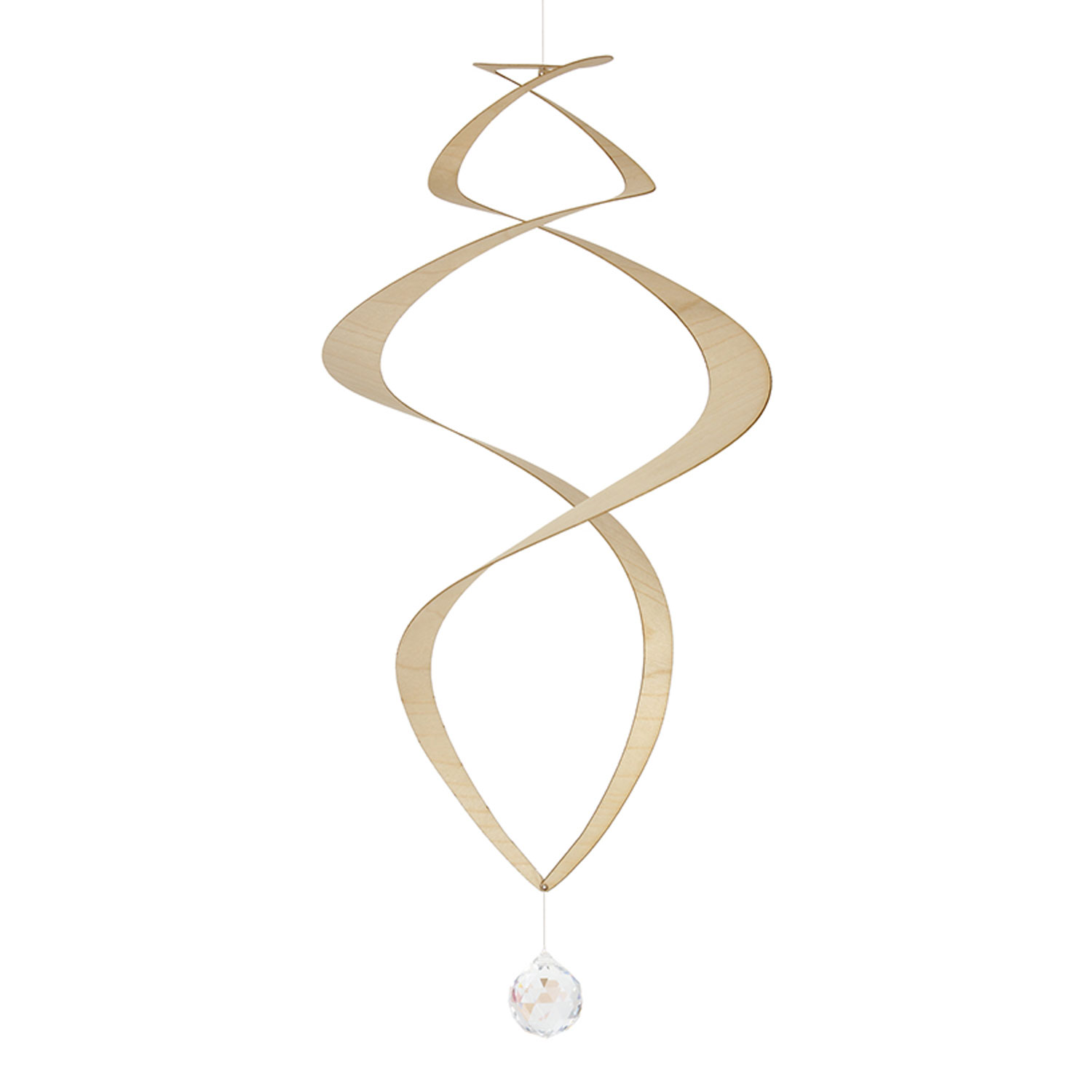 Wooden Spiral with Crystal