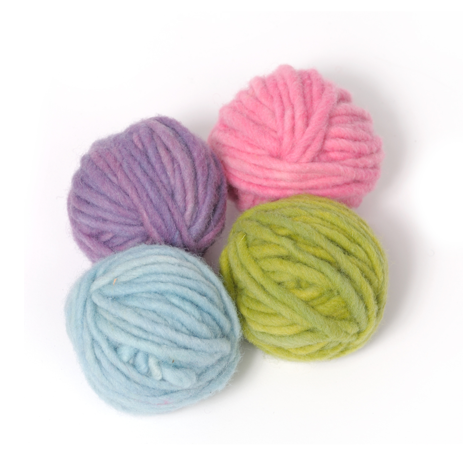 Filges Plant-dyed Organic Wool in Pastel Colours 4 x 25 g.