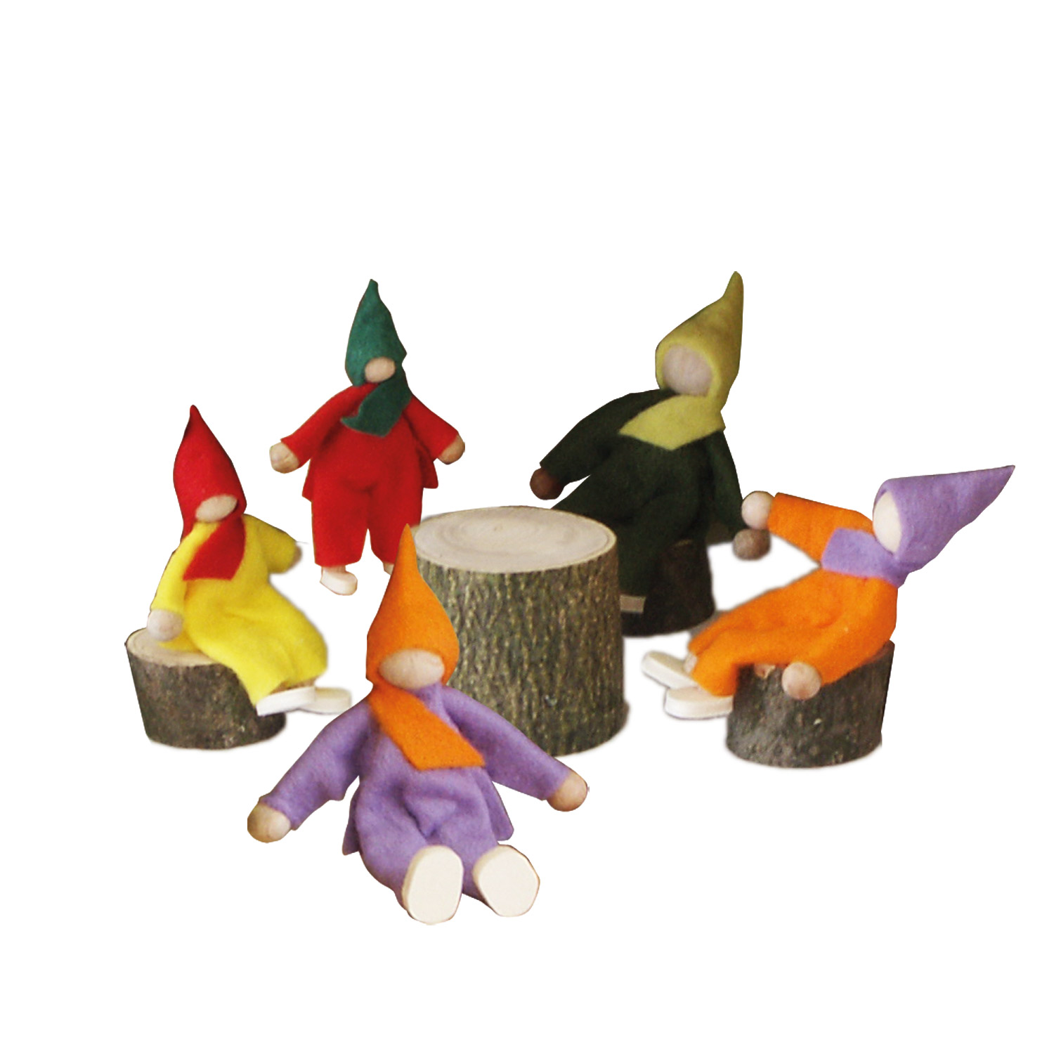 Set of Bendable Wooden Gnomes
