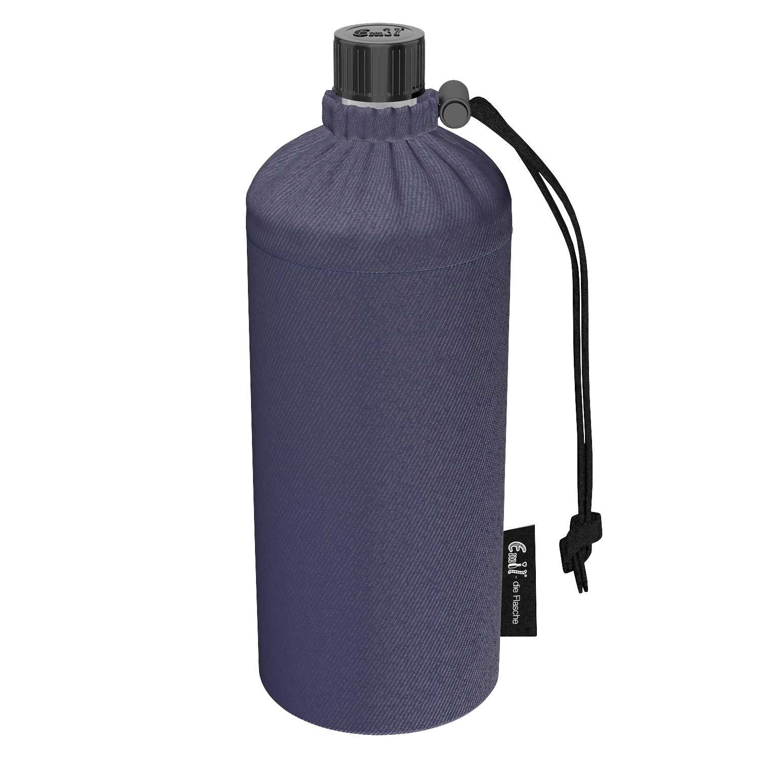 Emil Drinking Dottle with Sleeve made of Organic Cotton Jeans  0.6 l