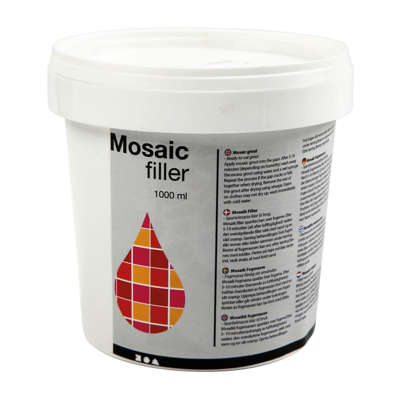 Mosaik-Fugenfüller, weiß, 1 l