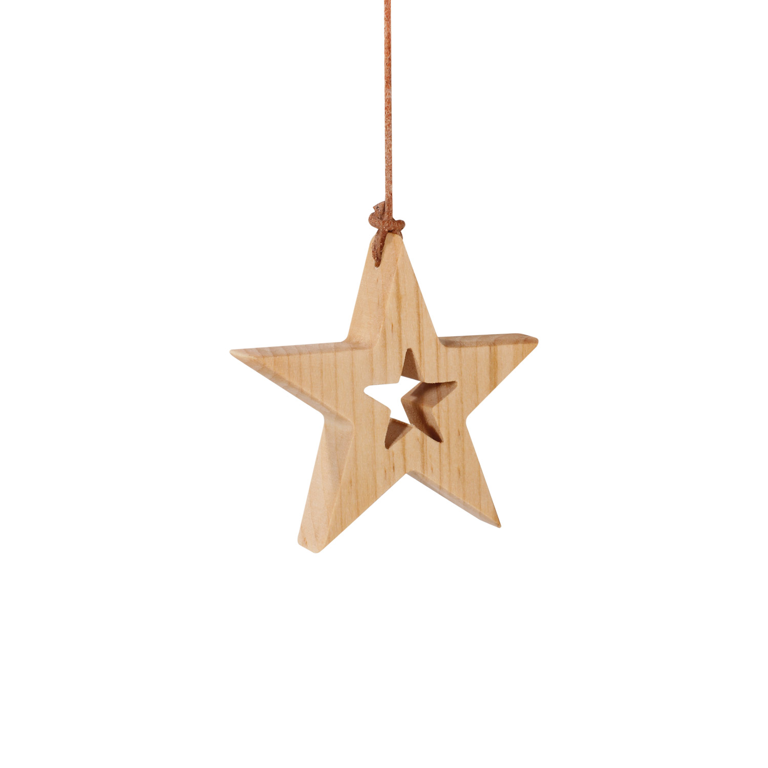 Wooden Star with Small Cutout