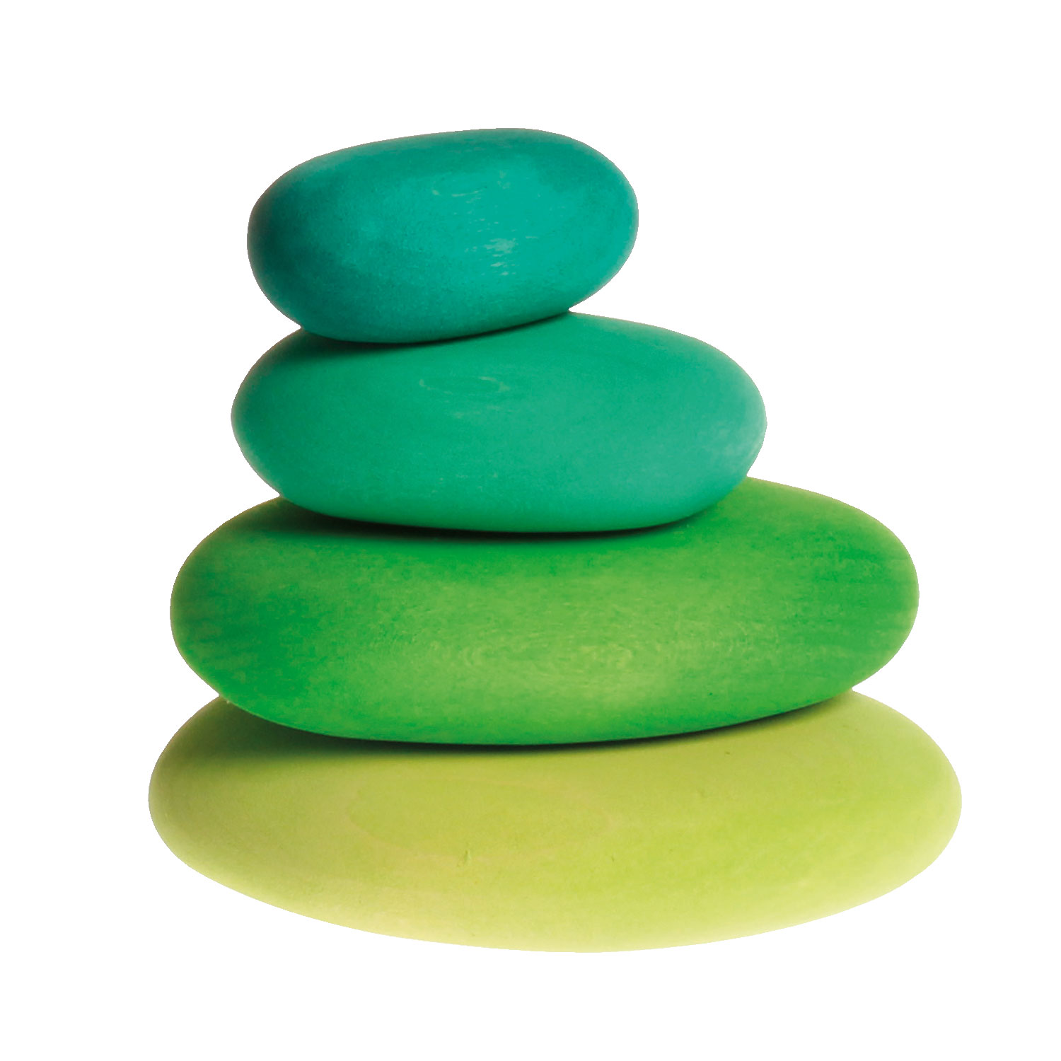 Grimm's Wooden Stacking Pebbles Green