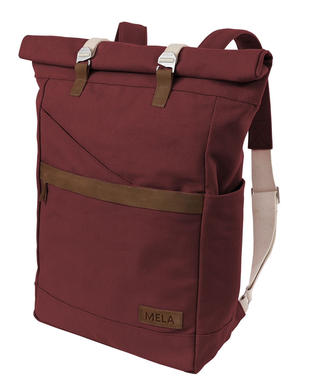 Enlargeable Organic Cotton Backpack Impregnated with Beeswax