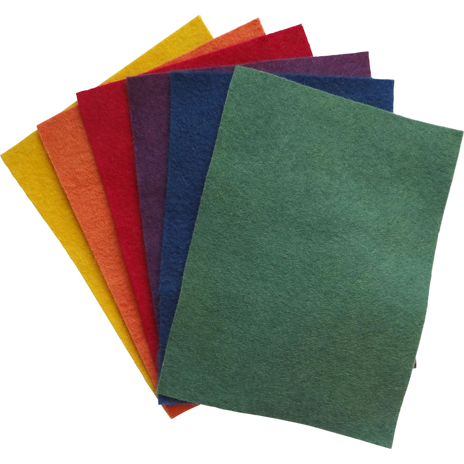 Set of Filges Plant-dyed Woolfelt Swatches in 6 Bright Colours