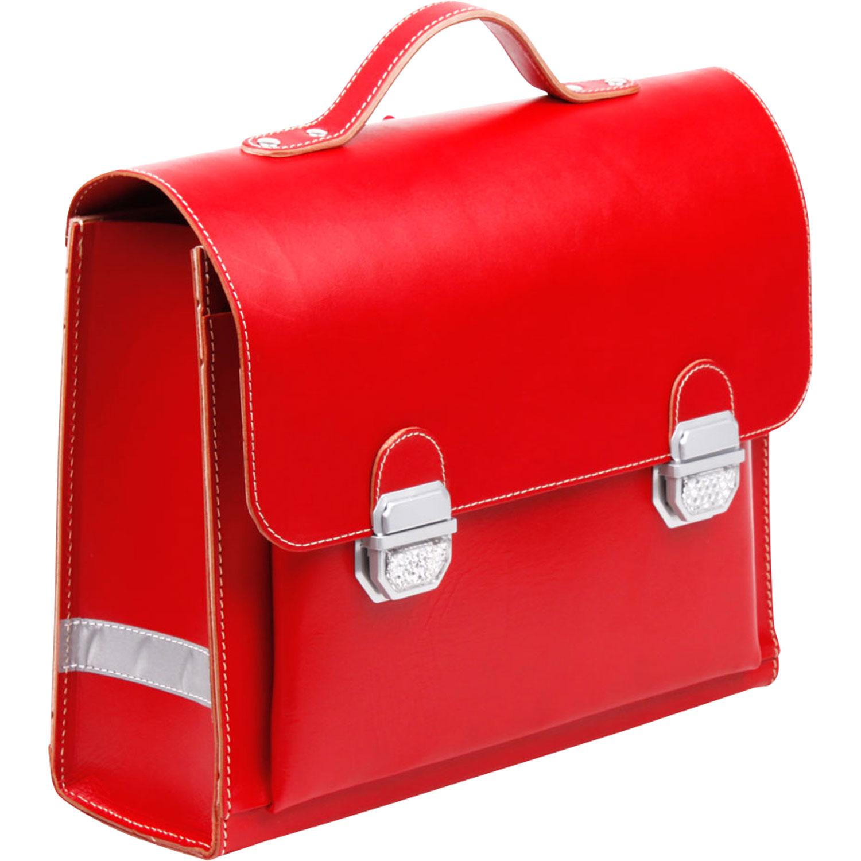 Organic Leather Waldorf School Satchel Red