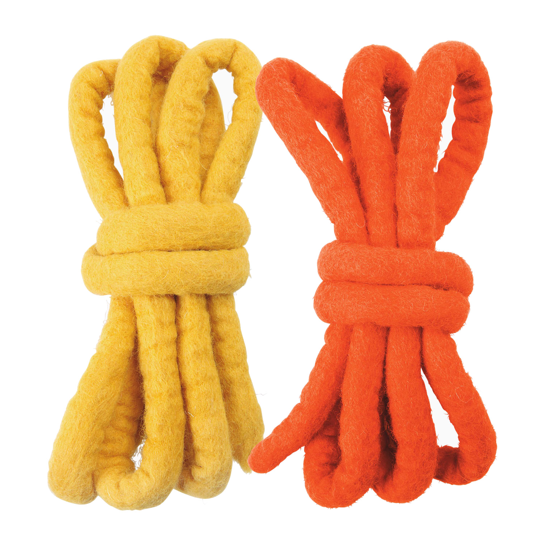 Filzschnüre, orange gelb