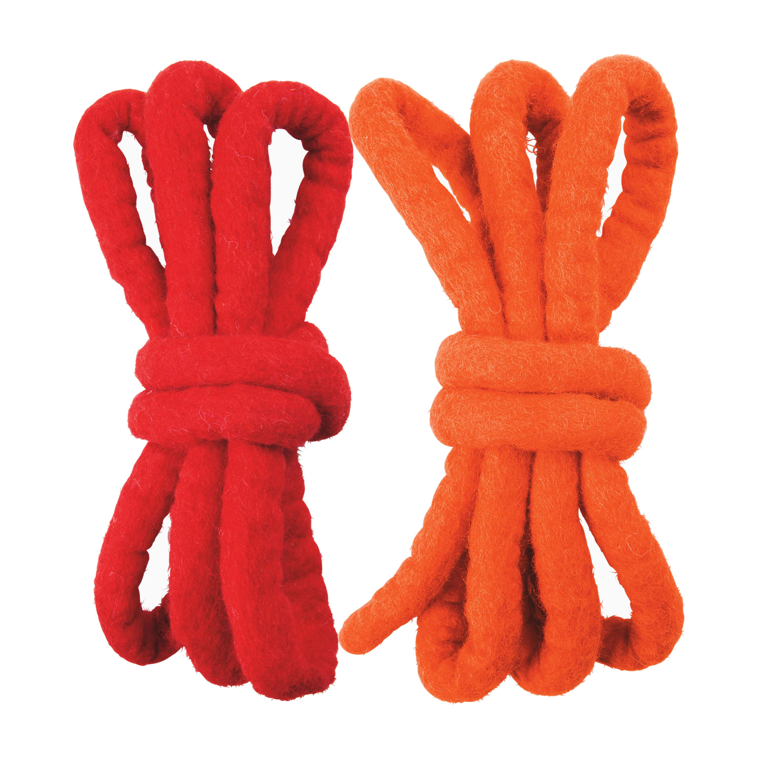 Woolfelt Cords in Red and Orange