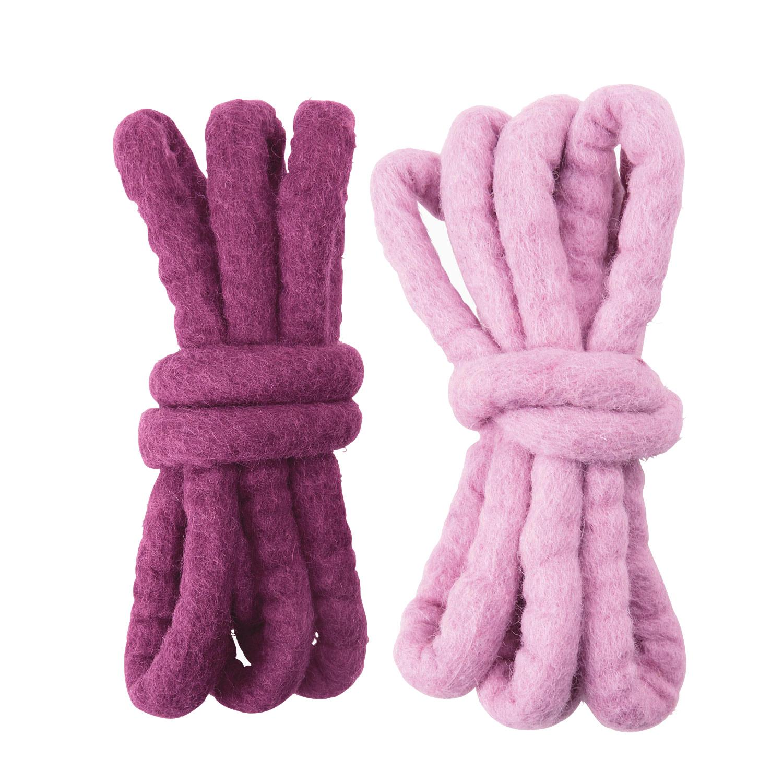 Filzschnüre, pink aubergine