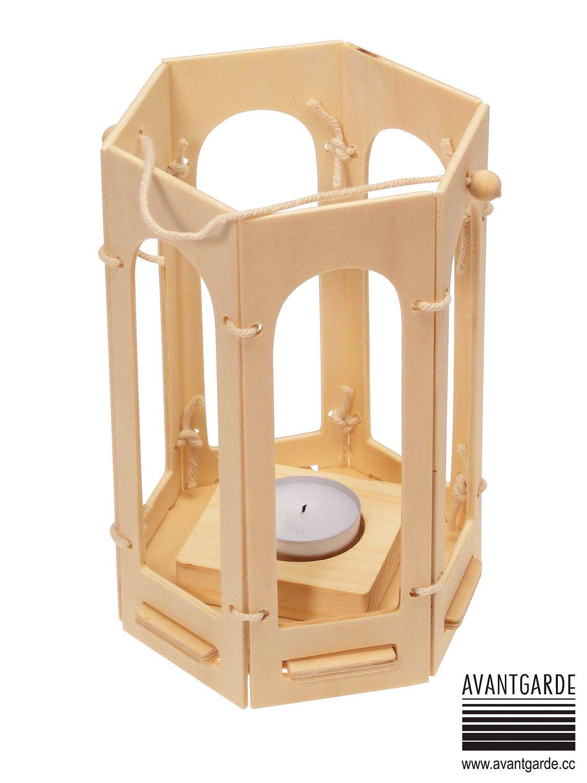 Wooden Hexagonal Lantern