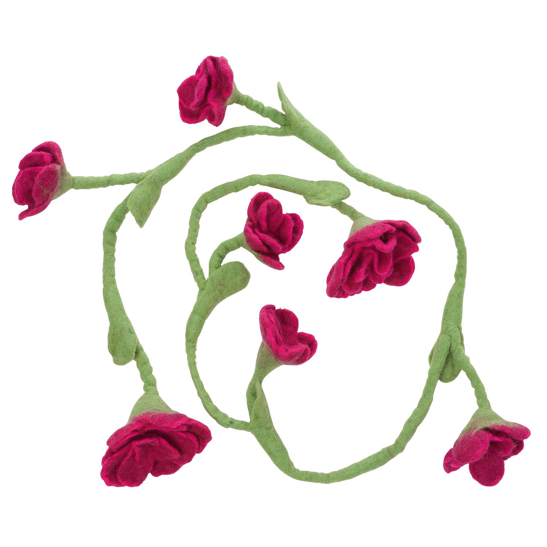 Blumengirlande, pink