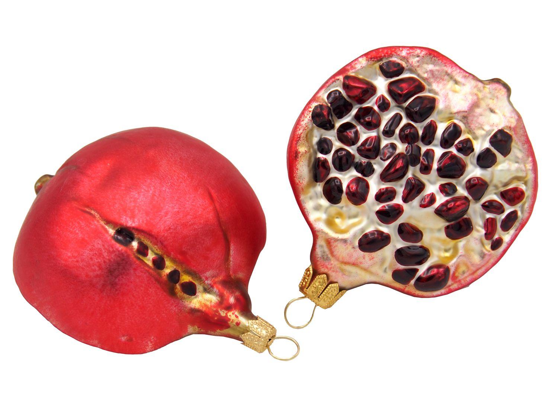 Granatapfel Hälfte Christbaumschmuck Baumschmuck Weihnachten Weihnachtskugel