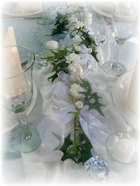 2m Gesteck in Weiß Tischdeko Deko