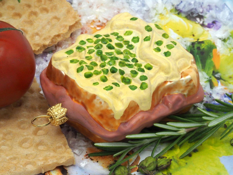 Sandwich Toast Christbaumschmuck Baumschmuck Weihnachten Adventskranz Anhänger