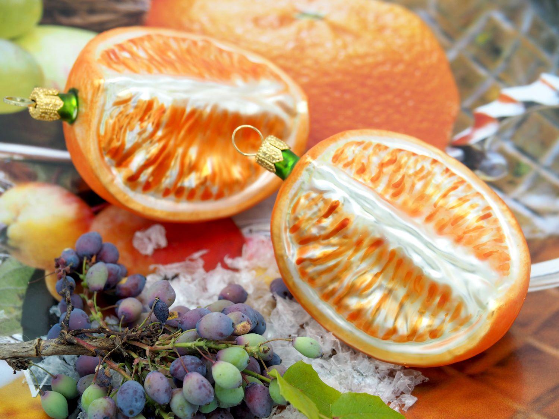 Orange Orangenspalte Christbaumschmuck Baumschmuck Weihnachten Deko Advent