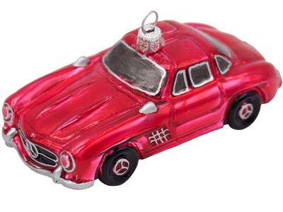 Auto Oldtimer Rot Advent Christbaumschmuck