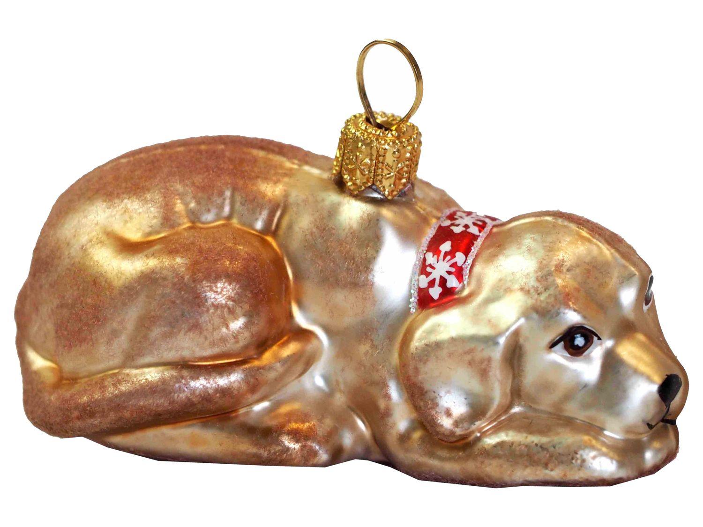 Hund Labrador Hellbraun Christbaumschmuck Baumschmuck Weihnachten Weihnachtskugel