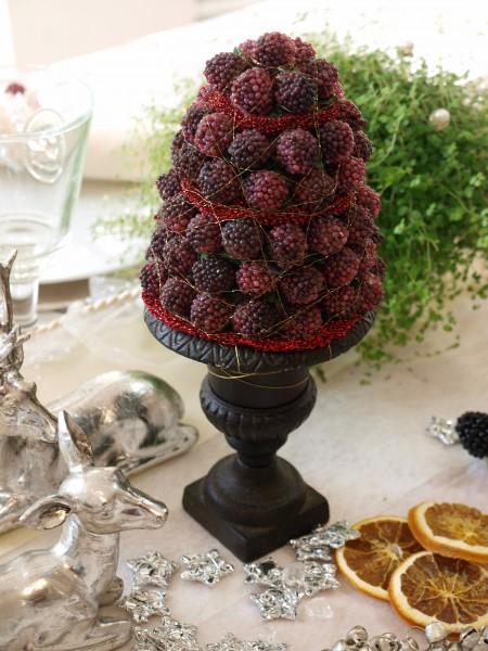 Tischdeko weihnachten 2012  Weihnachten Gesteck Brombeeren bordeaux Deko Vintage Tischdeko ...