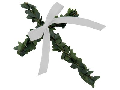 10 Kreuze Buchs Band Weiß Streudeko Kommunion Konfirmation