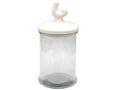 Vorratsdose Glas Vorratsglas Hahn Keramik 26cm 001
