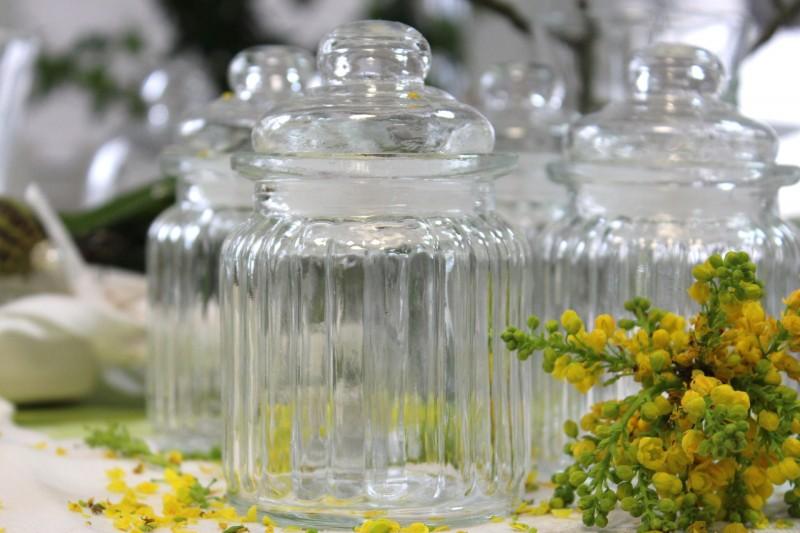 2 Stück Vorratsgläser Aufbewahrungsglas Gewürzglas Glas Vorratsglas Kunststoffabdichtung