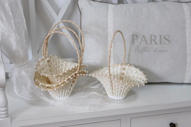 4 Blumenkörbchen Streukörbchen für Blumenkinder zur Hochzeit