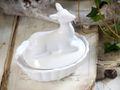 Dosen Porzellan Waldtiere Wild Weiß Tischdeko Deko Rentier 3