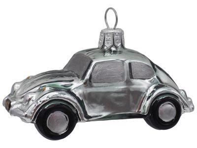Auto Glas Mann Silber Grün Christbaumschmuck