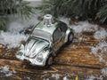 Auto Glas Mann Silber Grün Christbaumschmuck Tannenbaumschmuck Weihnachtskugel Anhänger 4