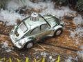 Auto Glas Mann Silber Grün Christbaumschmuck Tannenbaumschmuck Weihnachtskugel Anhänger 3