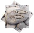 Servietten Steine Fisch Tischdeko Kommunion Konfirmation 20 Stück 1
