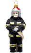 Feuerwehrmann Glas Christbaumschmuck Weihnachten Weihnachtskugel Feuerwehr 1