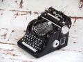 Schreibmaschine Glas Schwarz Christbaumschmuck Tannenbaumschmuck Weihnachten 5