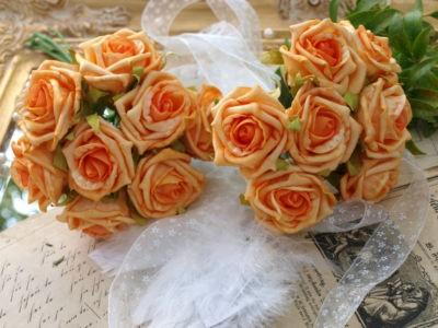 24 Rosen Orange Hochzeit Tischdeko Kommunion Streudeko Konfirmation