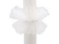 Kerzenrock Kommunion Kerze Tüll Kerzenring Kommunionkerze Weiß 1