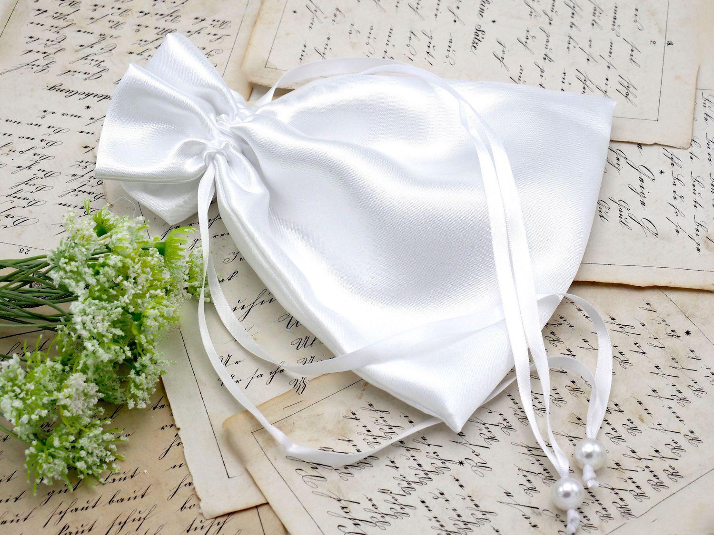 Kommunionbeutel Beutel Weiß Tasche Hochzeit Brauttasche Kommunion Weiß