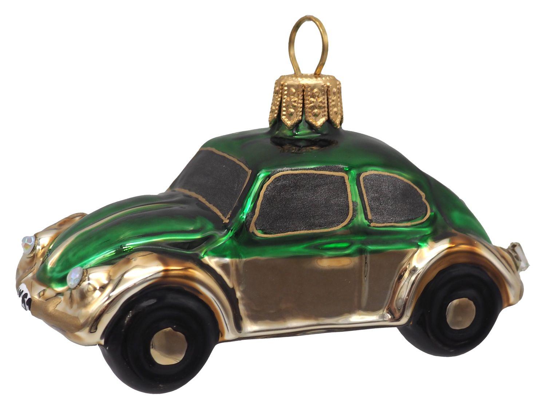 Auto Glas Grün Gold Christbaumschmuck Baumschmuck Weihnachten Weihnachtskugel Deko