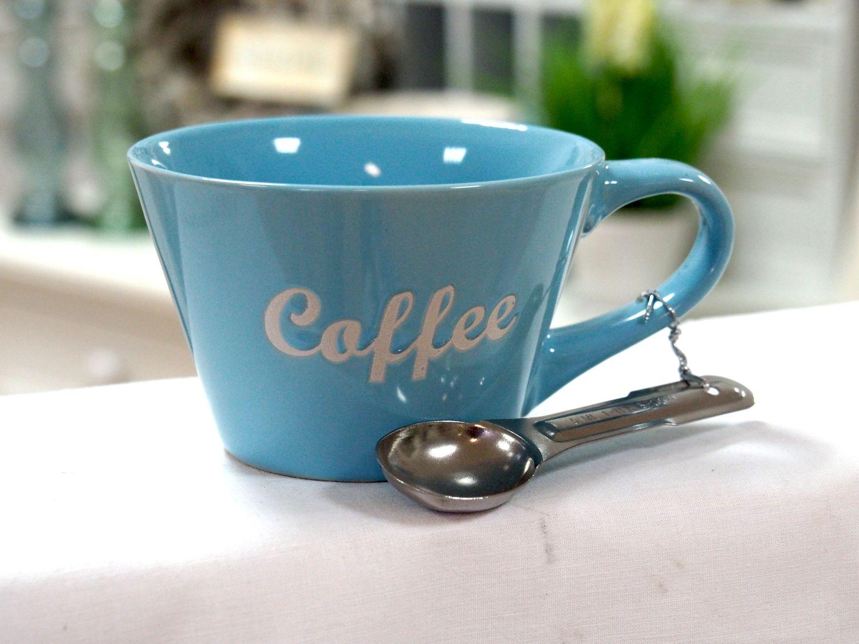 2x tasse becher kaffee mit l ffel cappuccino home k che bad. Black Bedroom Furniture Sets. Home Design Ideas