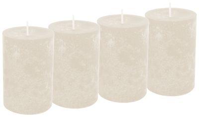 4 Stumpenkerzen Kerzen Creme