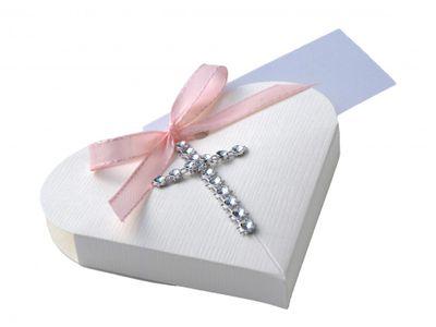 Gastgeschenk Herz Kreuz Rosa