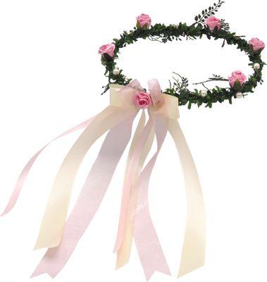 Haarschmuck Rosa Creme Kopfschmuck Hochzeit Haarkranz Blumenkind Kommunion