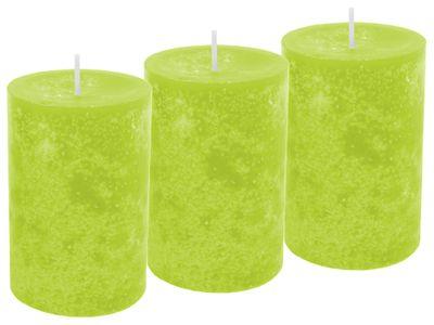 3 Stumpenkerzen Kerzen Grün
