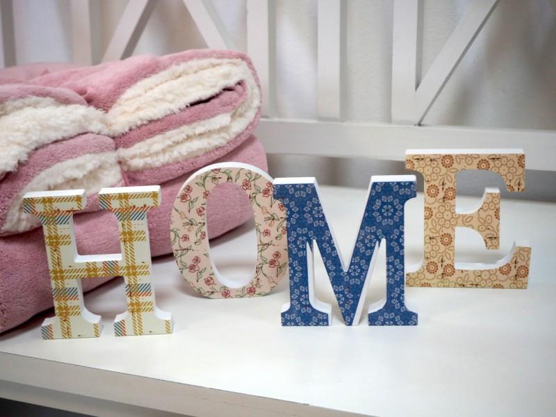 Buchstaben HOME Deko Home Sonstige Dekoelemente