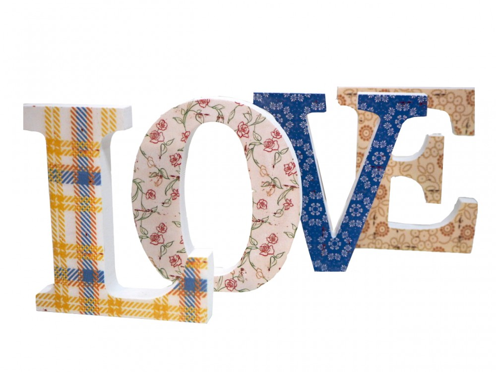 Buchstaben Holz Love Hochzeit Mädchen Landhaus Fensterbank Deko