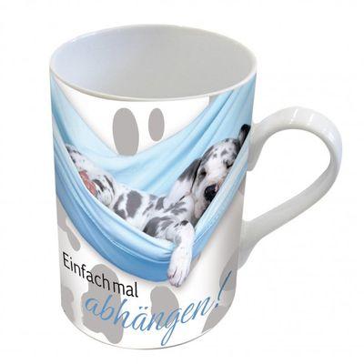 Becher Tasse Harlekindogge Hund