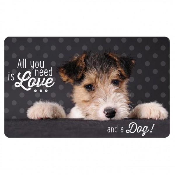 Frühstücksbrettchen Brettchen Hund Geschenk Geburtstag Terrier Mann